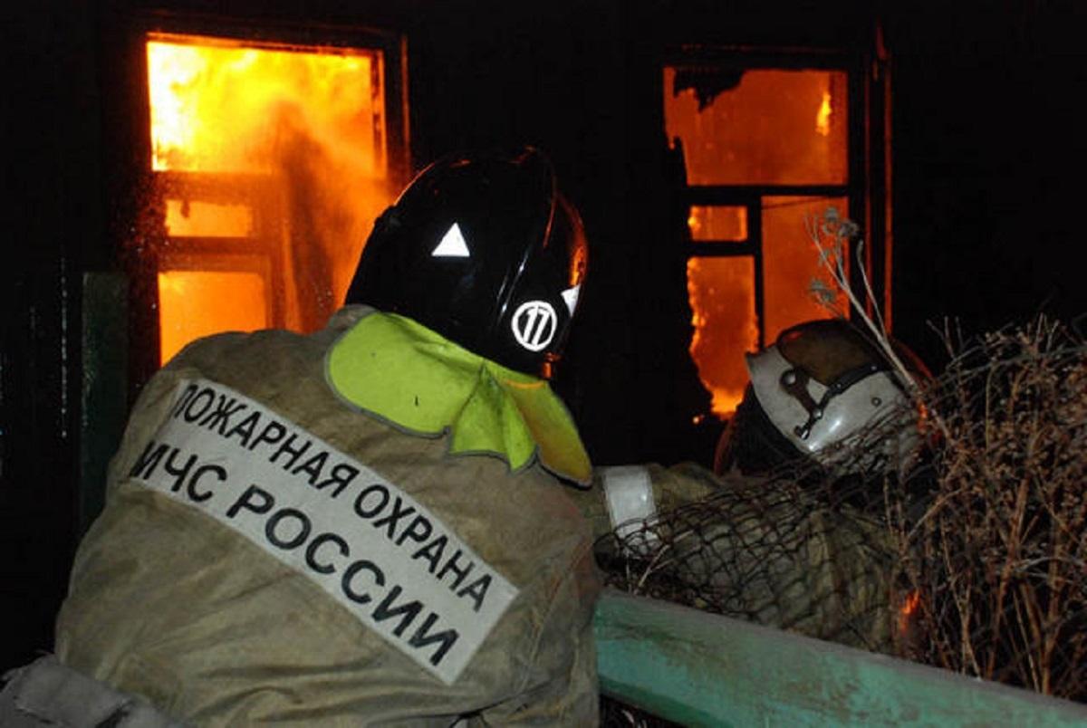 Пожар в жилом доме в городском округе Ленинский