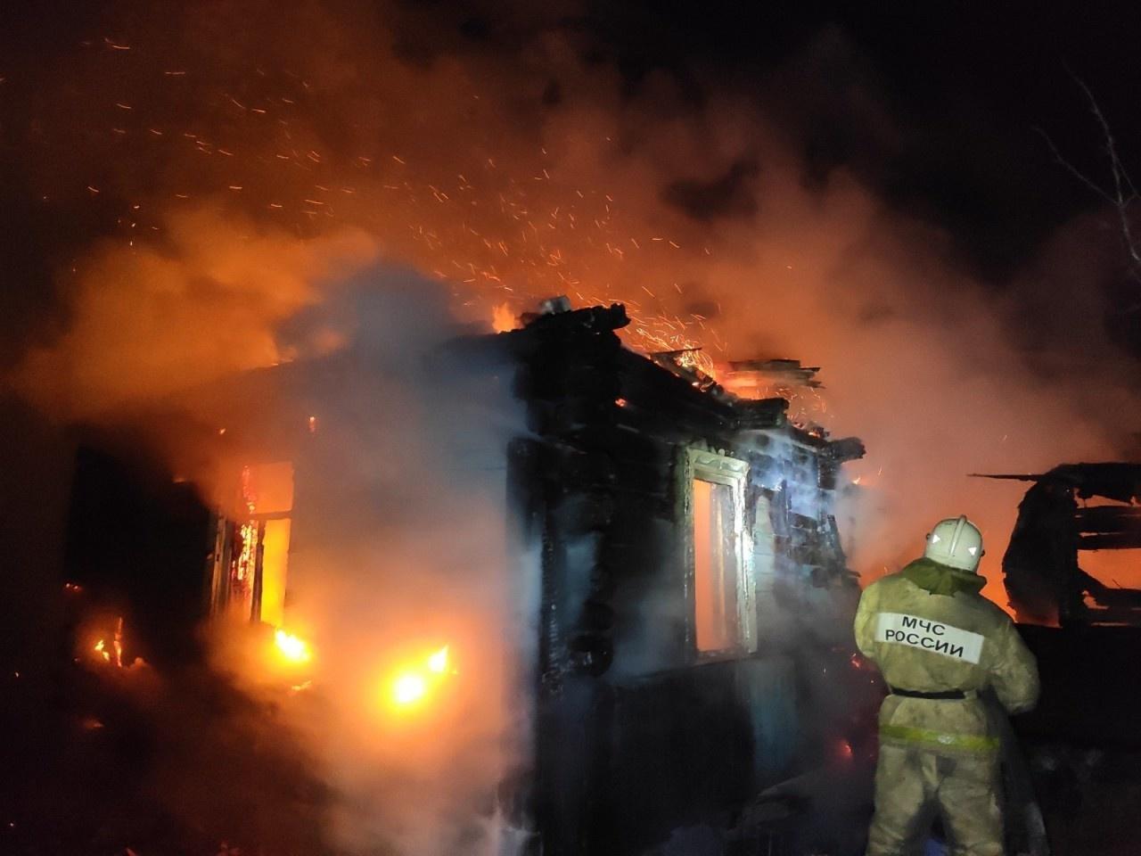 Пожар в жилом доме в городском округе Руза