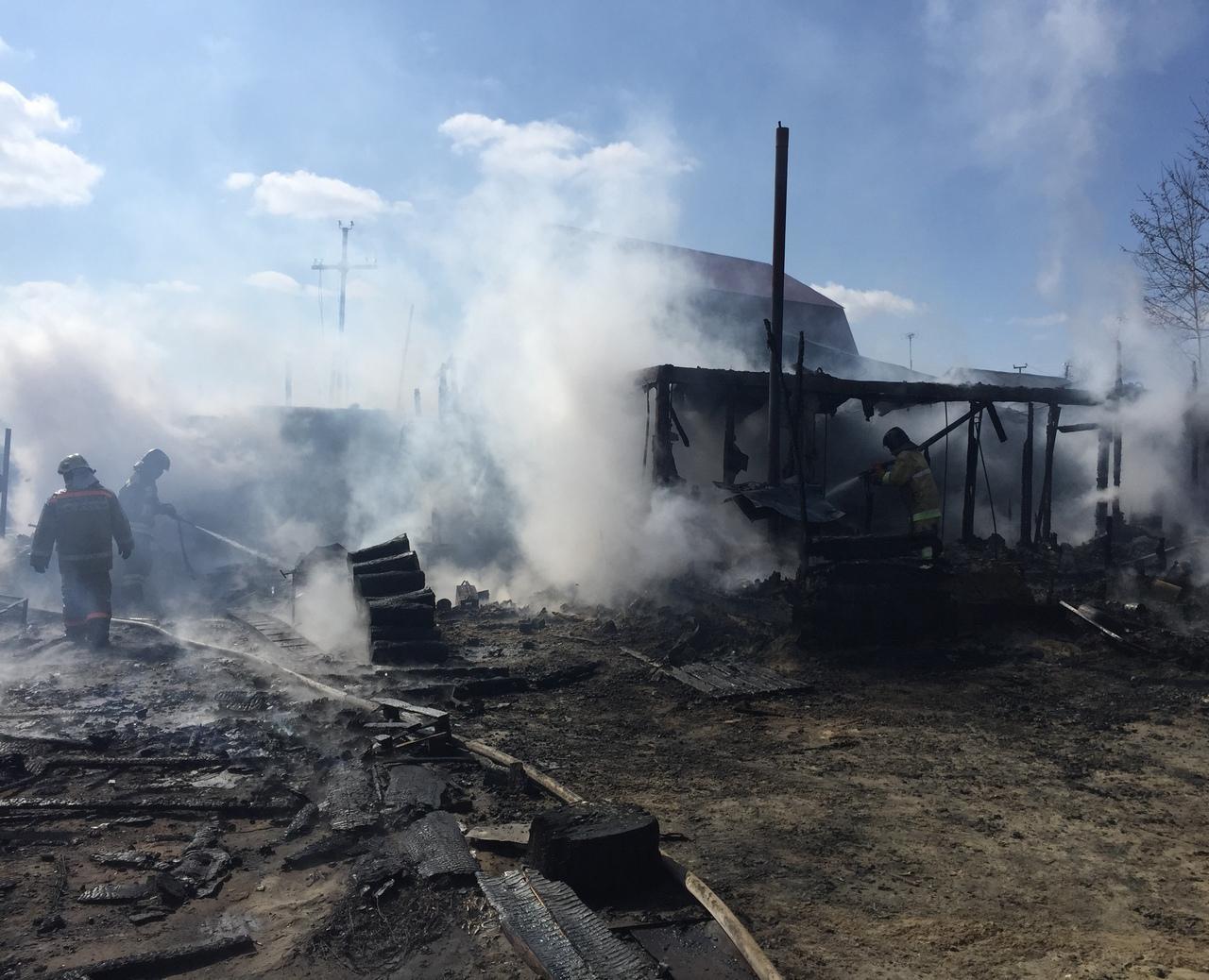 Пожар в нежилом здании в городском округе Раменское