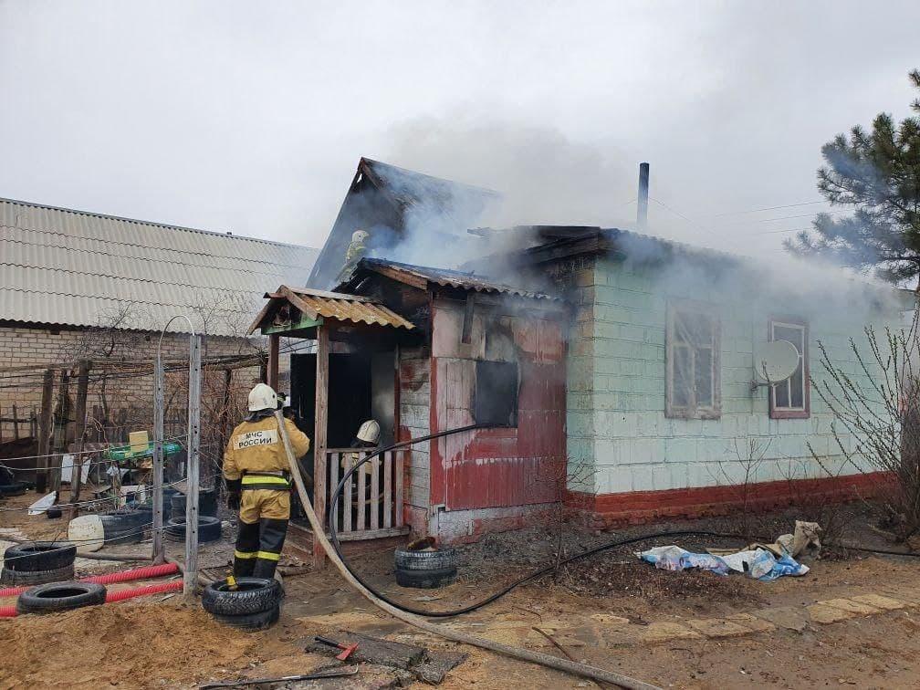 Пожар в жилом доме в городском округе Серебряные-Пруды