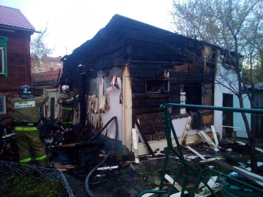 Пожар в нежилом здании в городском округе Одинцово