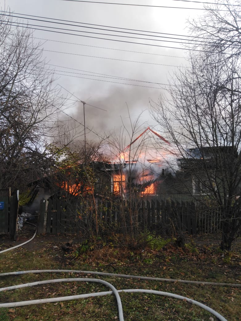 Пожар в жилом доме в городском округе Сергиев Посад