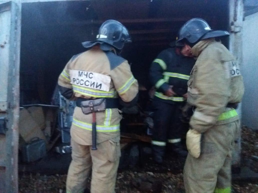 Пожар в хозяйственной постройке в городском округе Химки