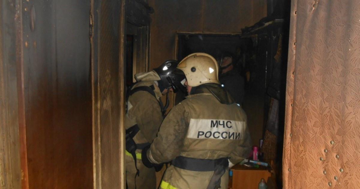 Пожар в квартире в городском округе Химки