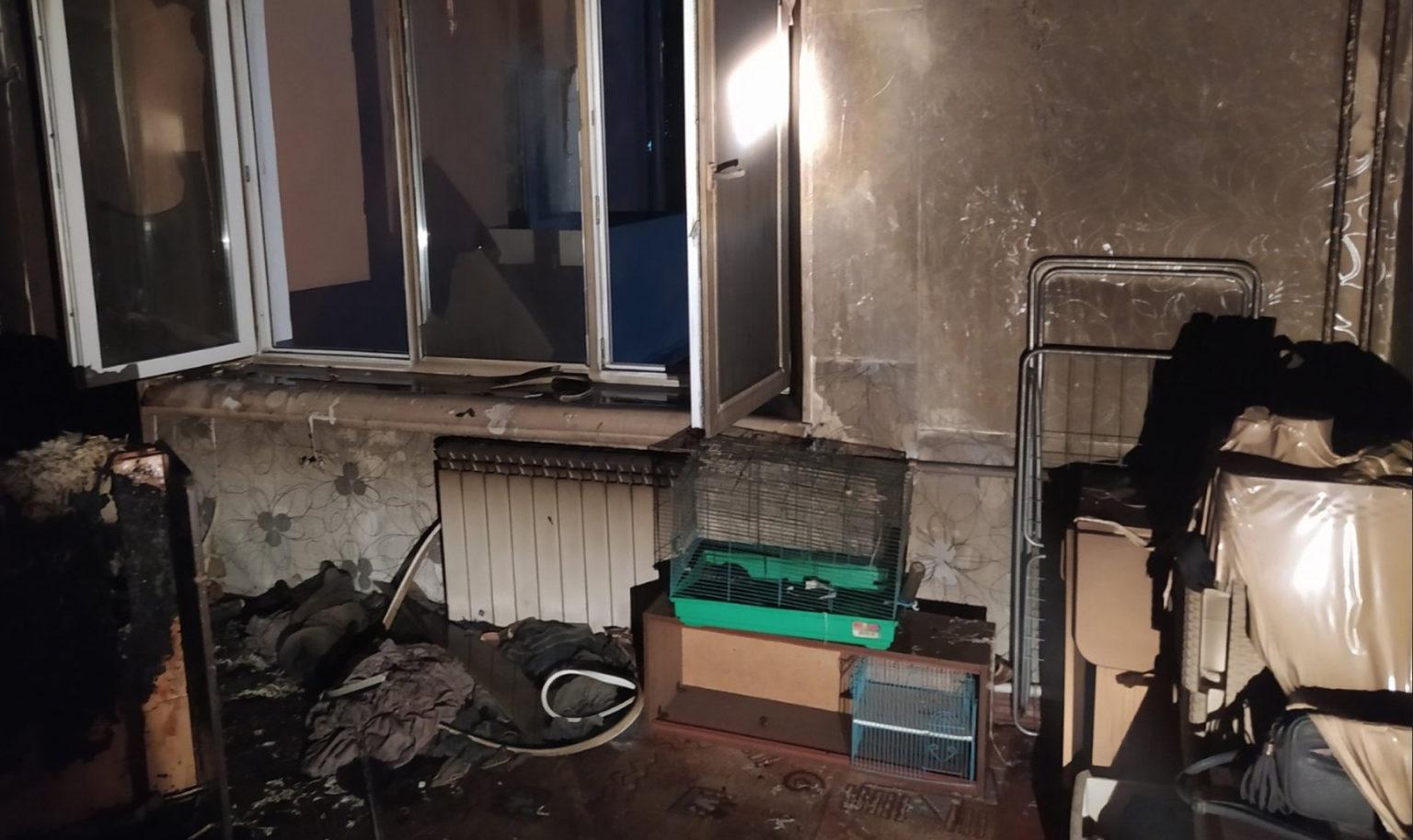 Пожар в квартире в городском округе Ступино