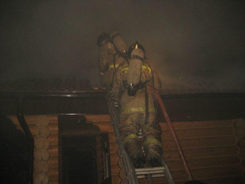 Пожар в хозяйственной постройке в городском округе Клин