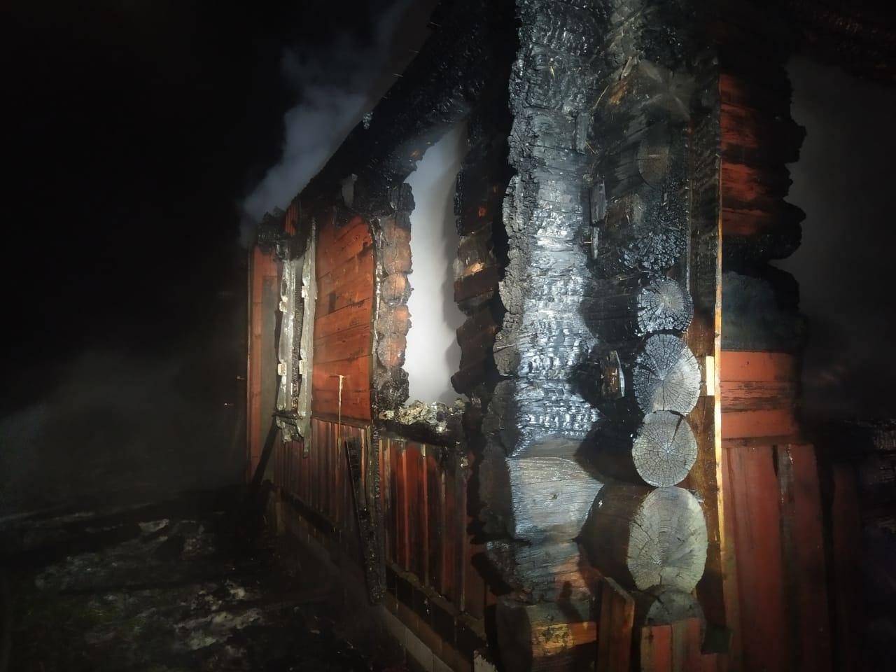 Пожар в жилом доме в городском округе Клин