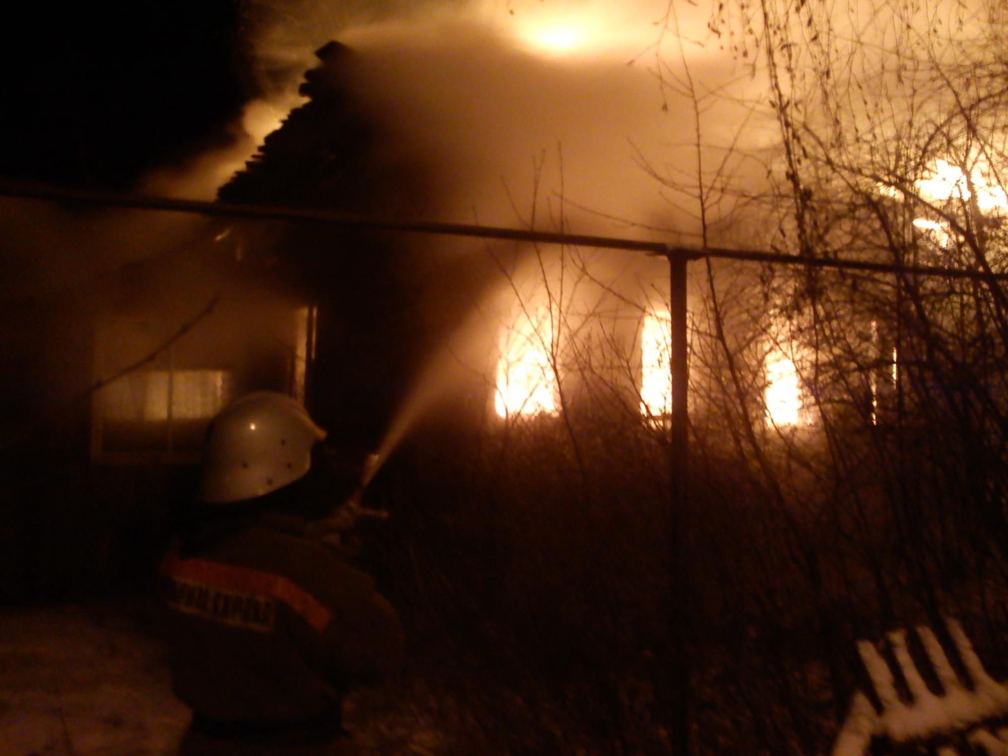 Пожар в садовом доме в городском округе Одинцово