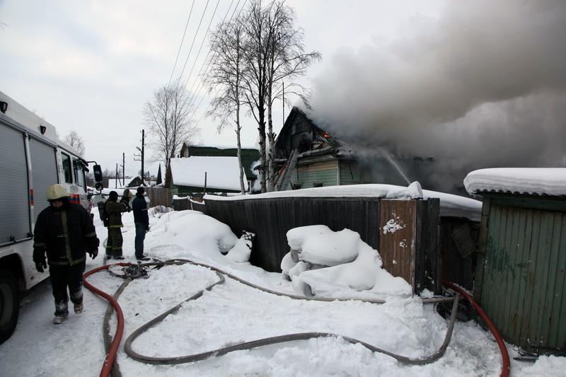 Пожар в жилом доме в городском округе Луховицы