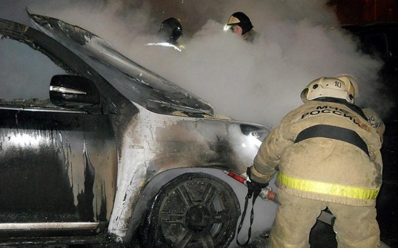 Возгорание транспортного средства в городском округе Дмитров