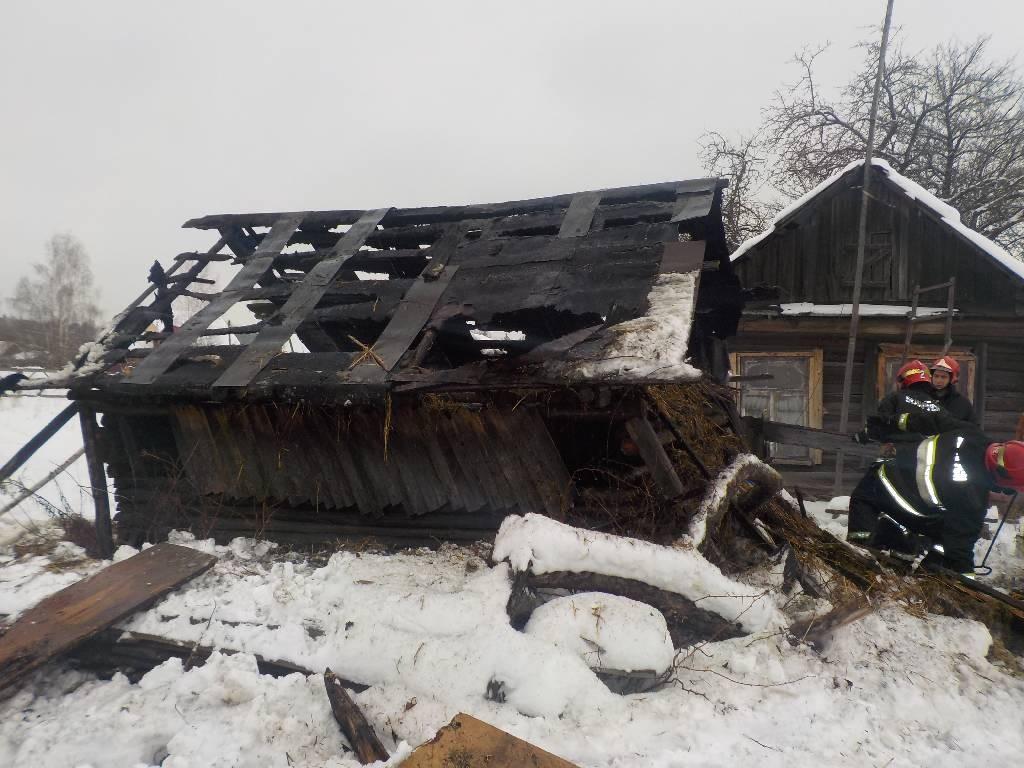 Пожар в хозяйственной постройке в городском округе Балашиха