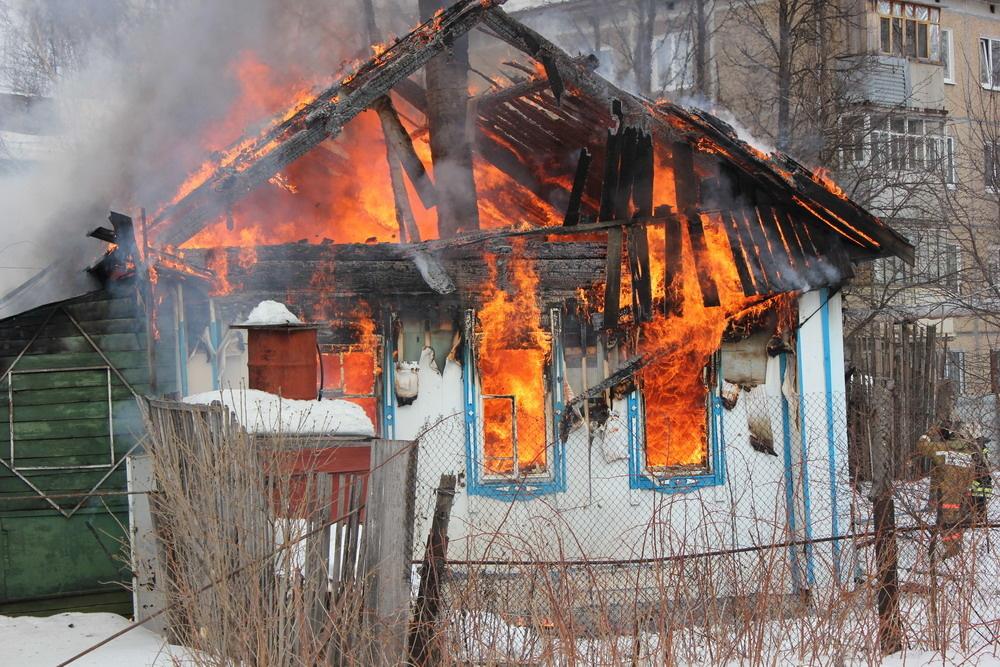 Пожар в жилом доме в городском округе Чехов
