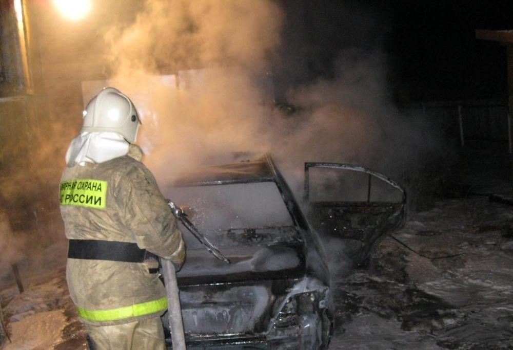 Возгорание транспортного средства в городском округе Долгопрудный