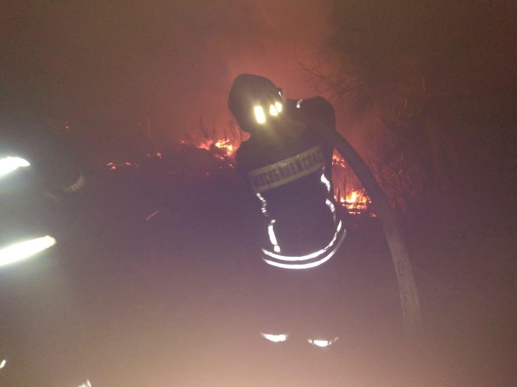 Пожар в нежилом здании в городском округе Серебряные Пруды