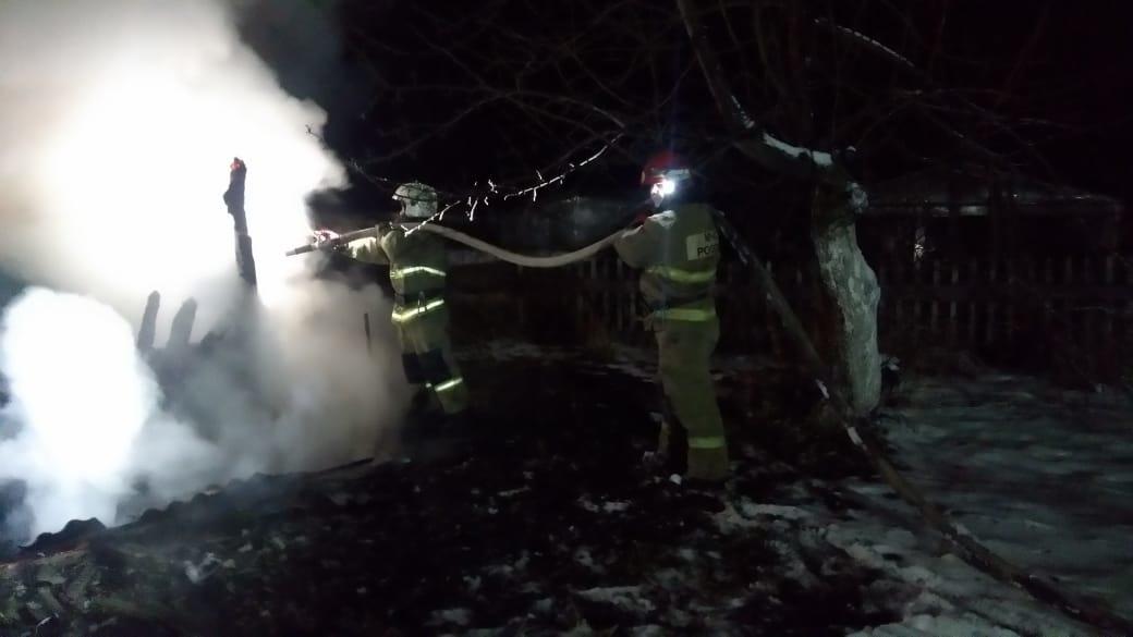 Пожар в хозяйственной постройке в городском округе Озеры