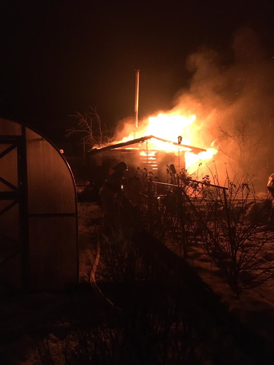 Пожар в хозяйственной постройке в городском округе Электроугли