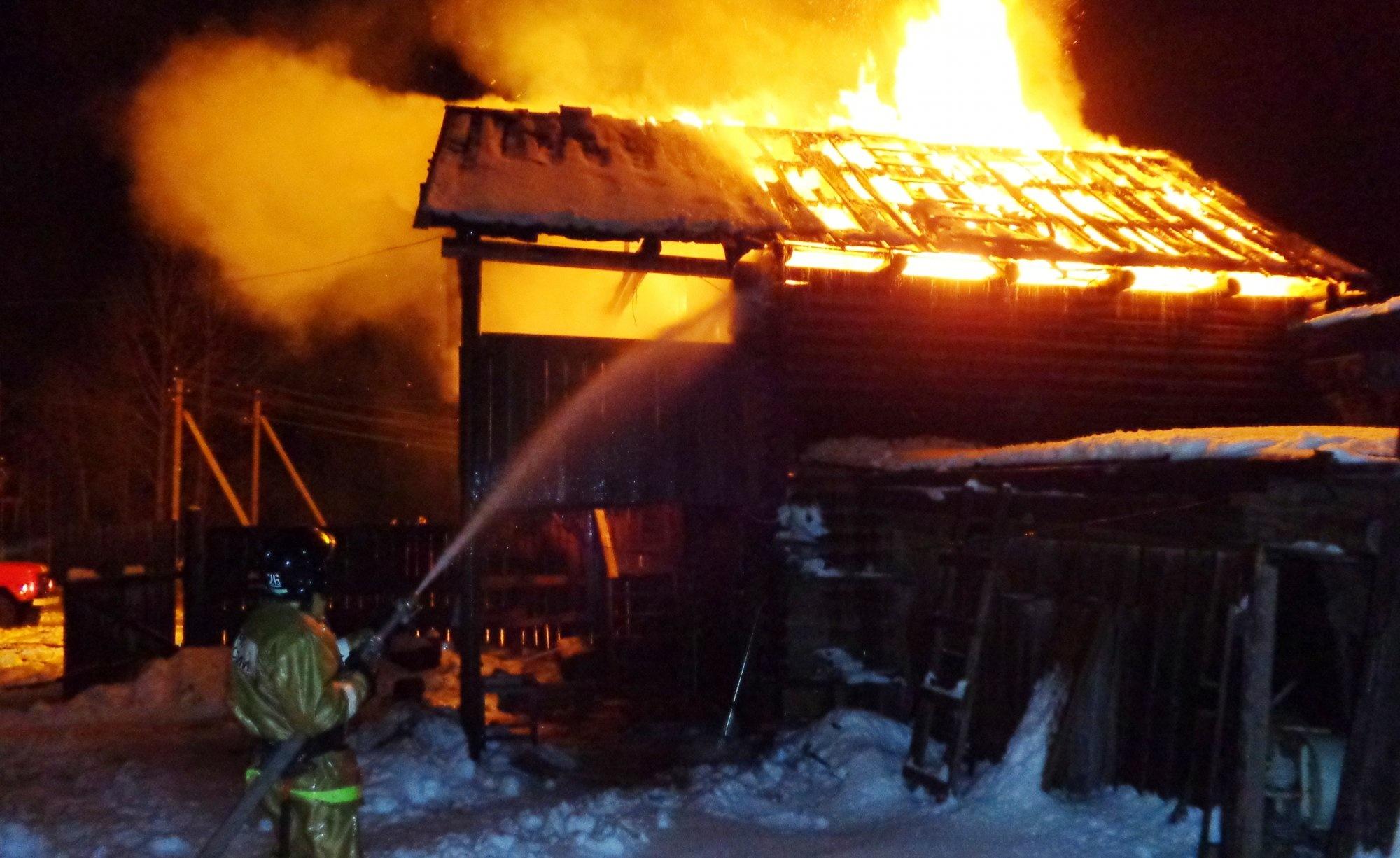 Пожар в садовом доме в городском округе Пушкино