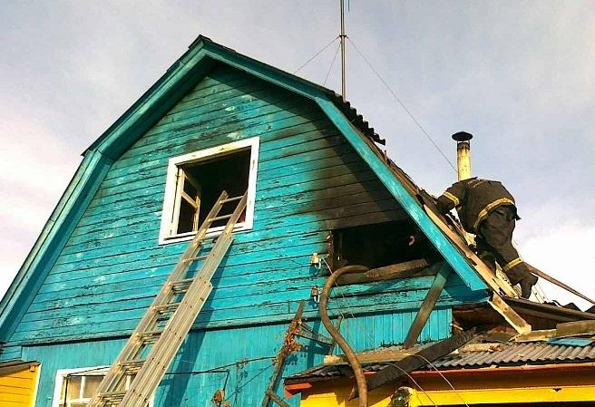 Пожар в жилом доме в городском округе Озеры
