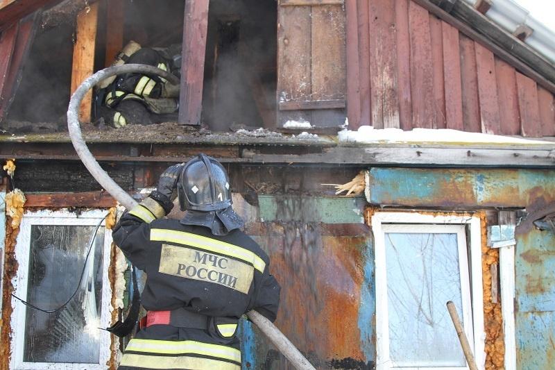 Пожар в садовом доме в городском округе Балашиха