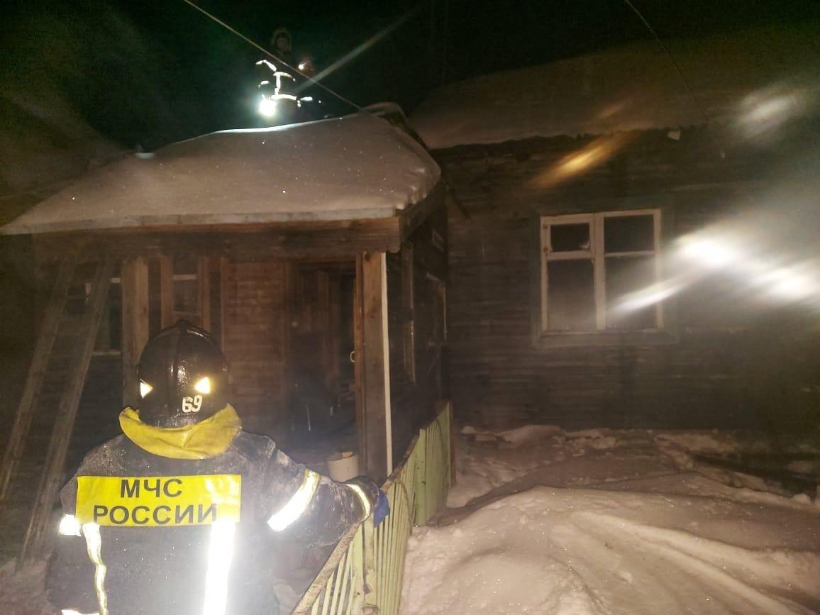 Пожар в жилом доме в городском округе Щёлково
