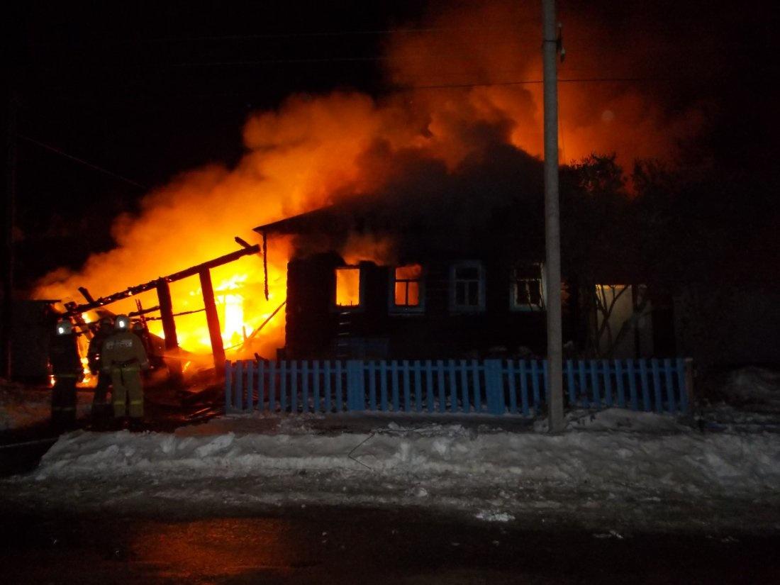 Пожар в жилом доме в городском округе Щелково