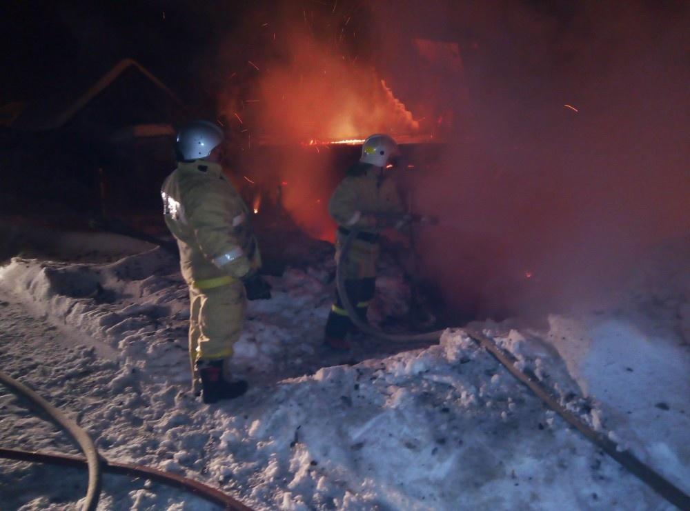 Пожар в хозяйственной постройке в городском округе Руза