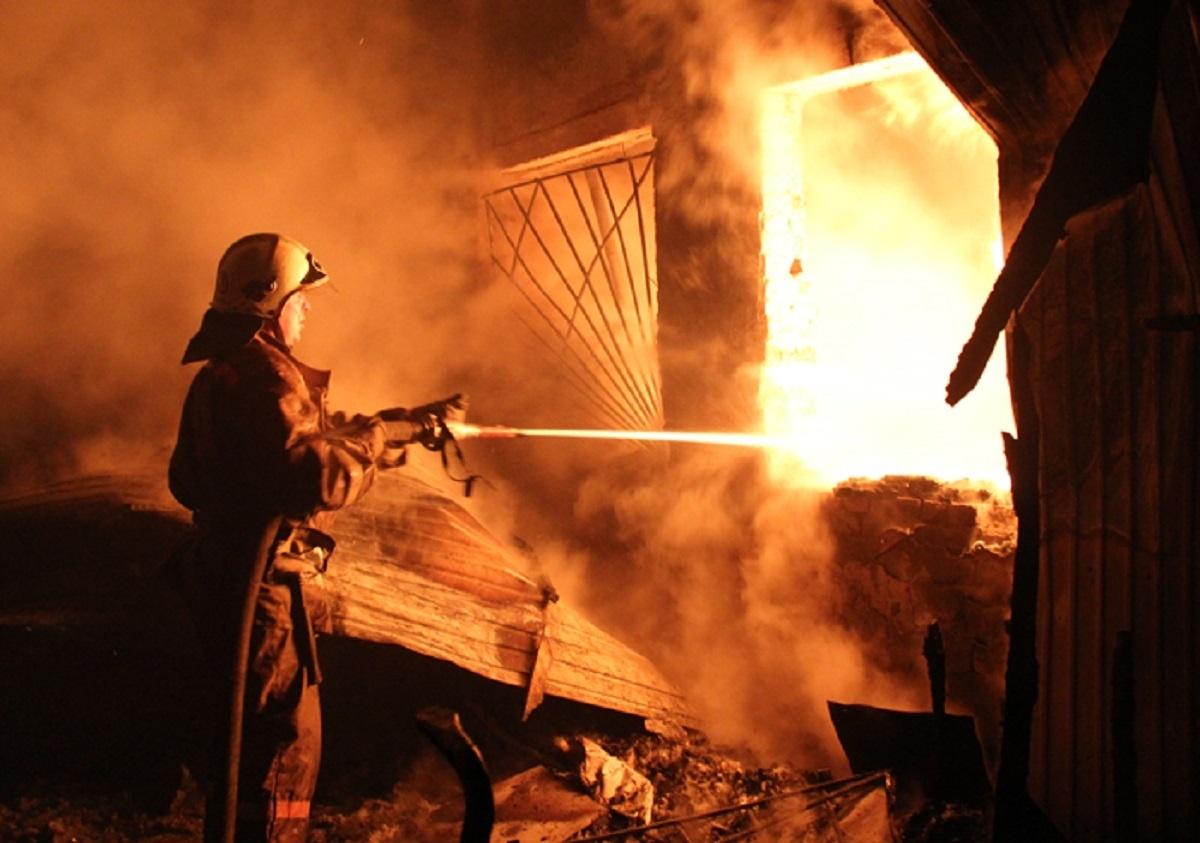 Пожар в садовом доме в городском округе Ивантеевка