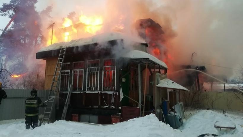 Пожар в жилом доме в городском округе Зарайск