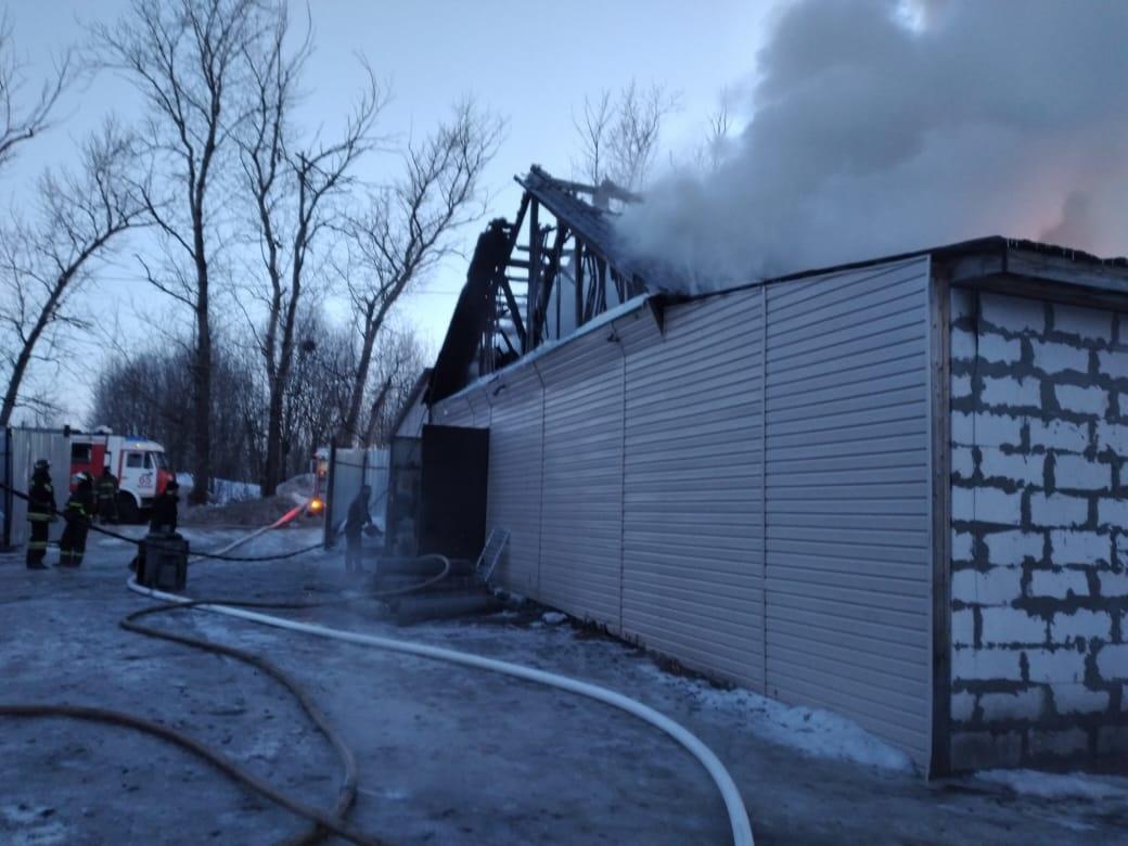 Пожар в нежилом здании в городском округе Солнечногорск