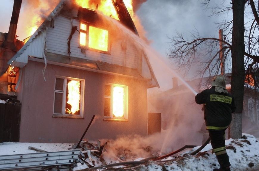 Пожар в садовом доме в городском округе Шаховская