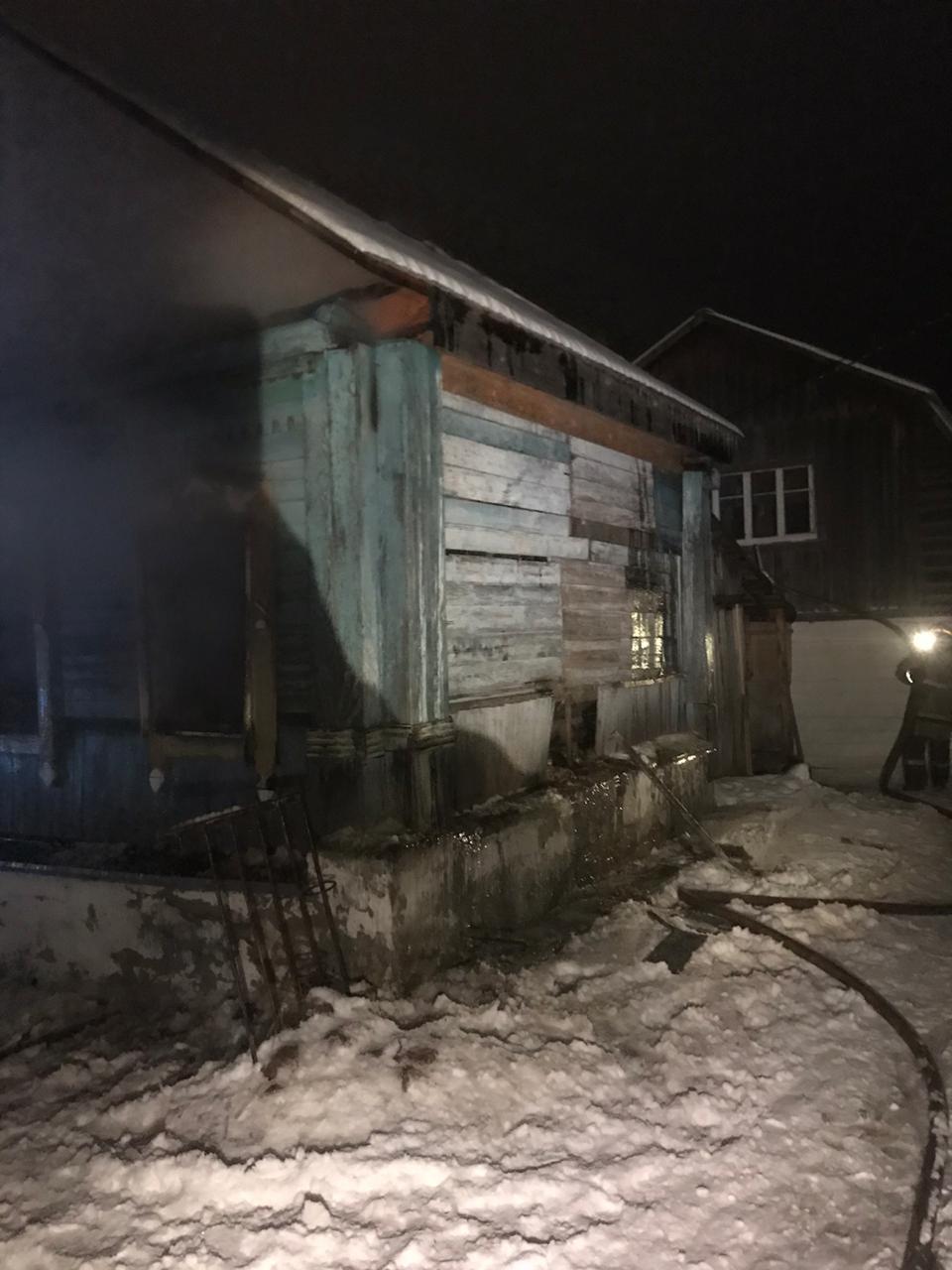 Пожар в жилом доме в городском округе Балашиха