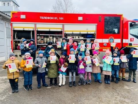 В пожарно-спасательной части №67 проведена экскурсия для школьников Солнечногорска