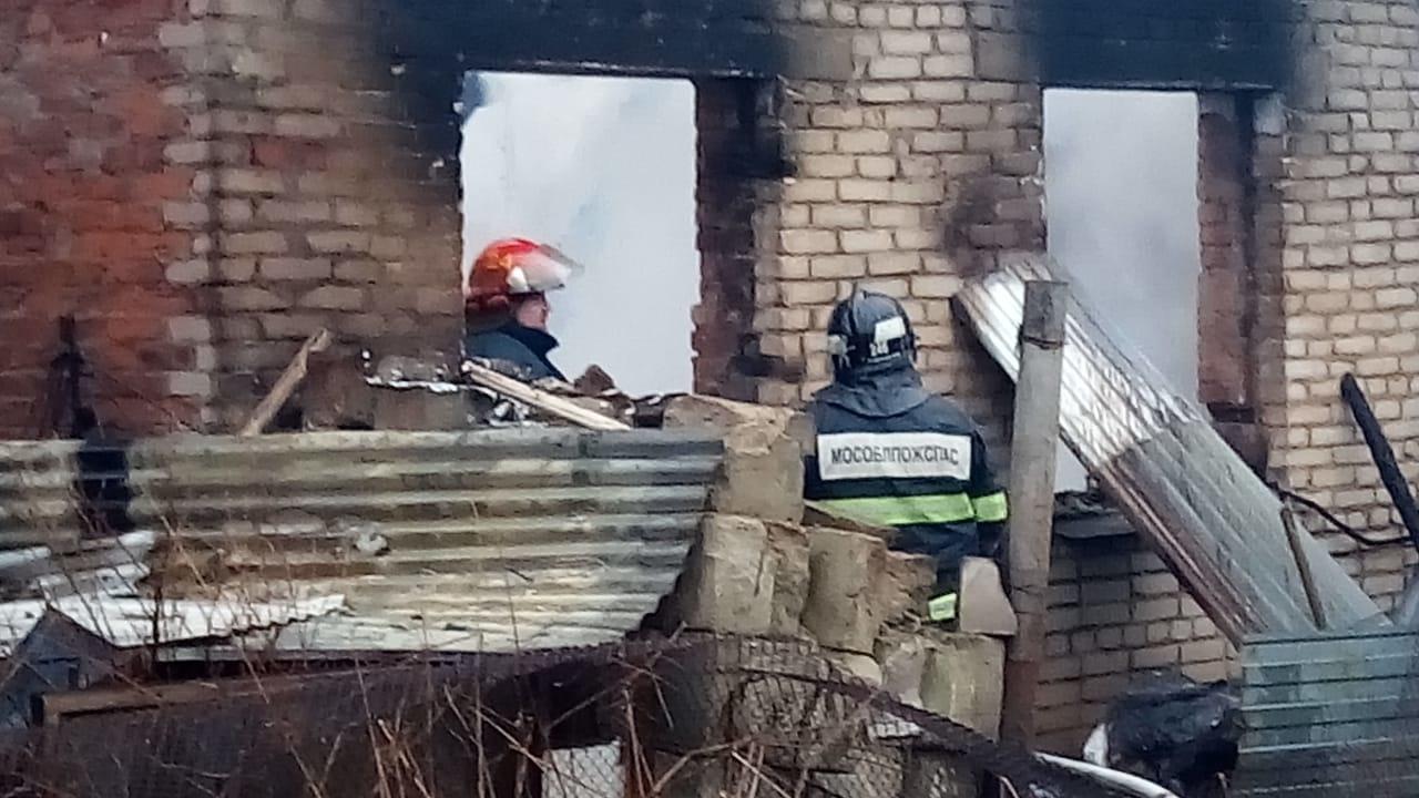 Пожар в жилом доме в городском округе Истра