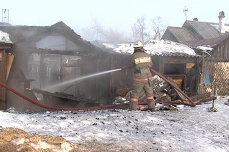 Пожар в хозяйственной постройке в городском округе Истра