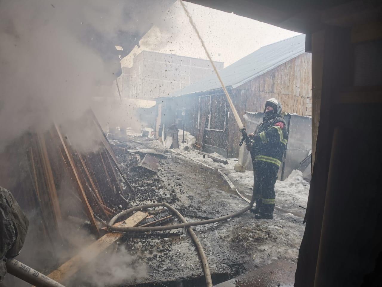Пожар в хозяйственной постройке в городском округе Кашира