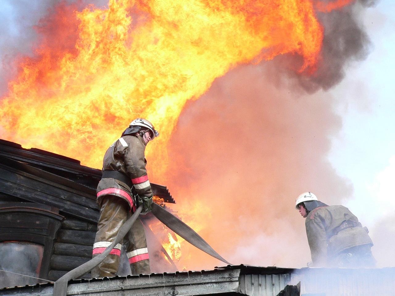 Пожар в жилом доме в городском округе Шаховская