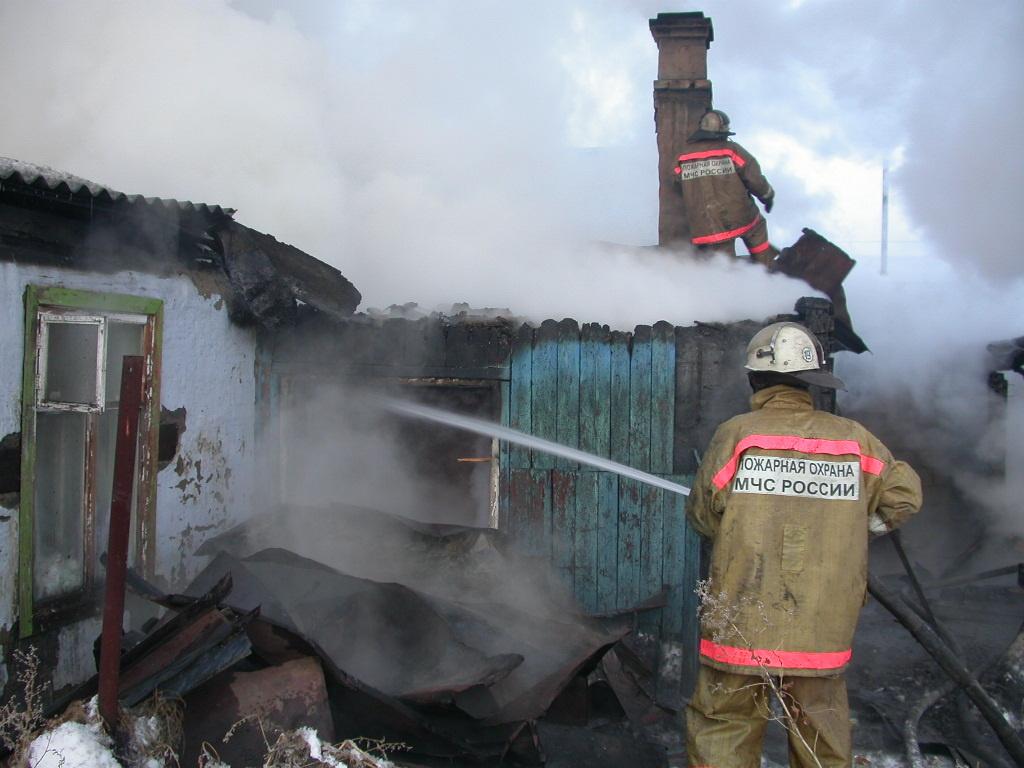 Пожар в жилом доме в городском округе Кашира