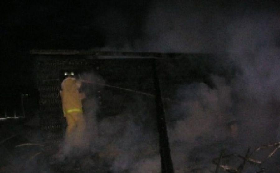 Пожар в хозяйственной постройке в городском округе Наро-Фоминск
