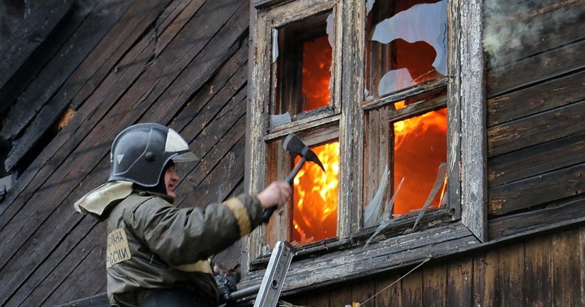 Пожар в садовом доме в городском округе Руза