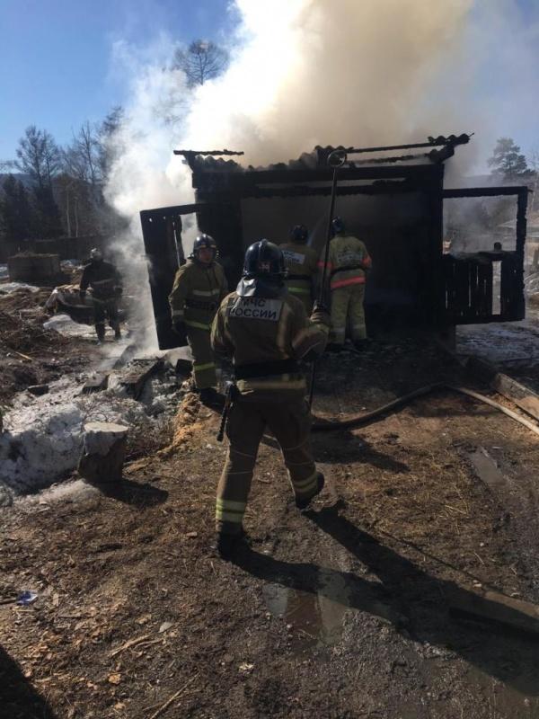 Пожар в нежилом здании в городском округе Дмитров
