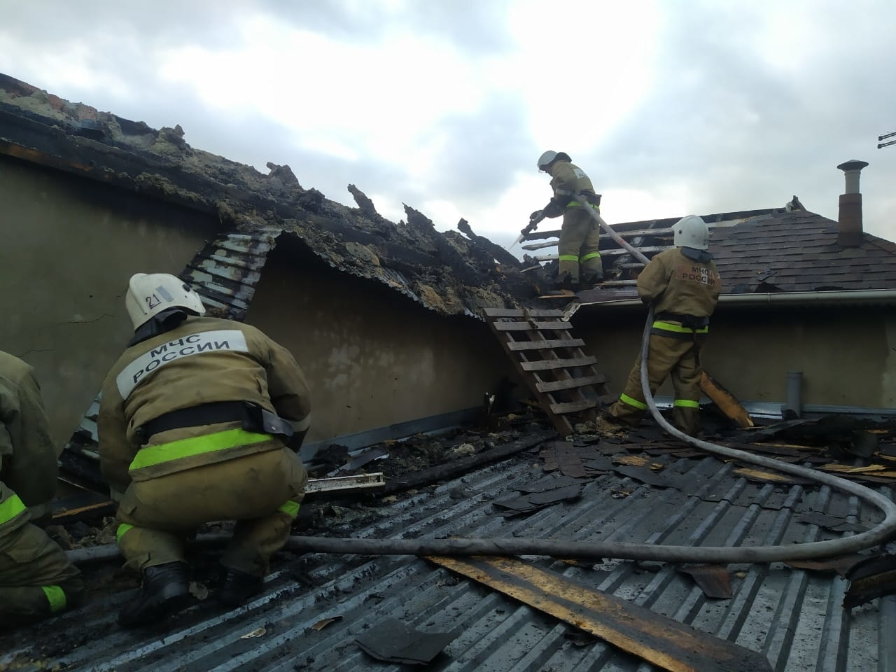Пожар в садовом доме в городском округе Истра