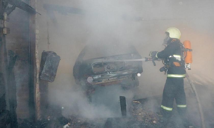 Пожар в хозяйственной постройке в городском округе Домодедово