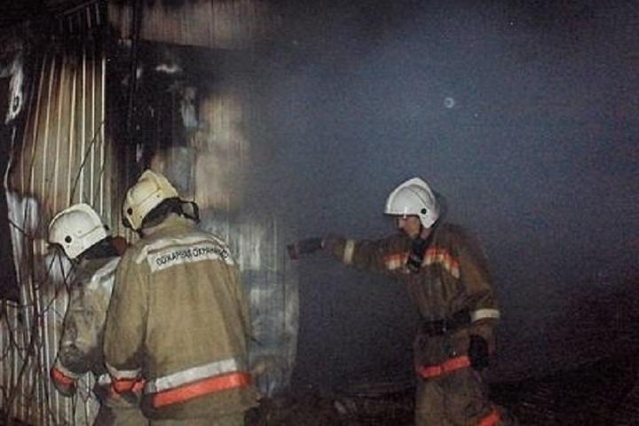 Пожар в хозяйственной постройке в городском округе Раменский
