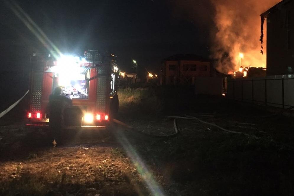 Пожар в садовом доме в городском округе Солнечногорск