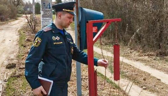 Сотрудники МЧС проверяют готовность населенных пунктов Дмитрова к пожароопасному периоду