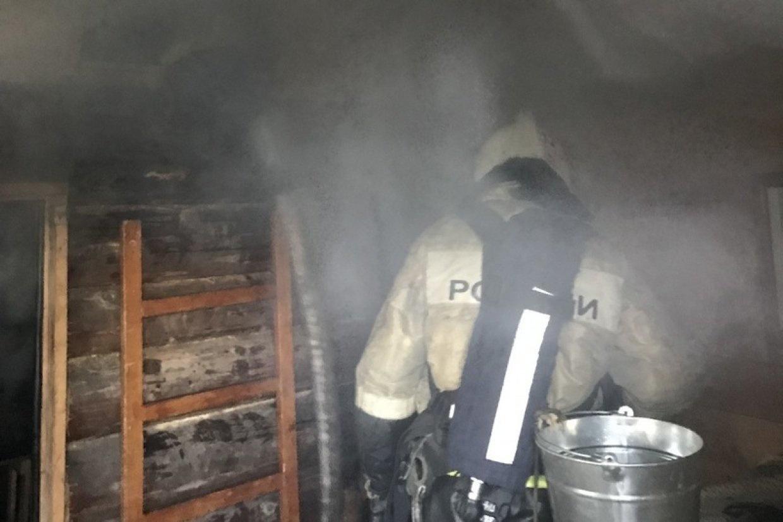 Пожар в хозяйственной постройке в городском округе Одинцово