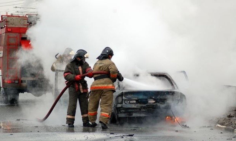 Возгорание транспортного средства в городском округе Раменское