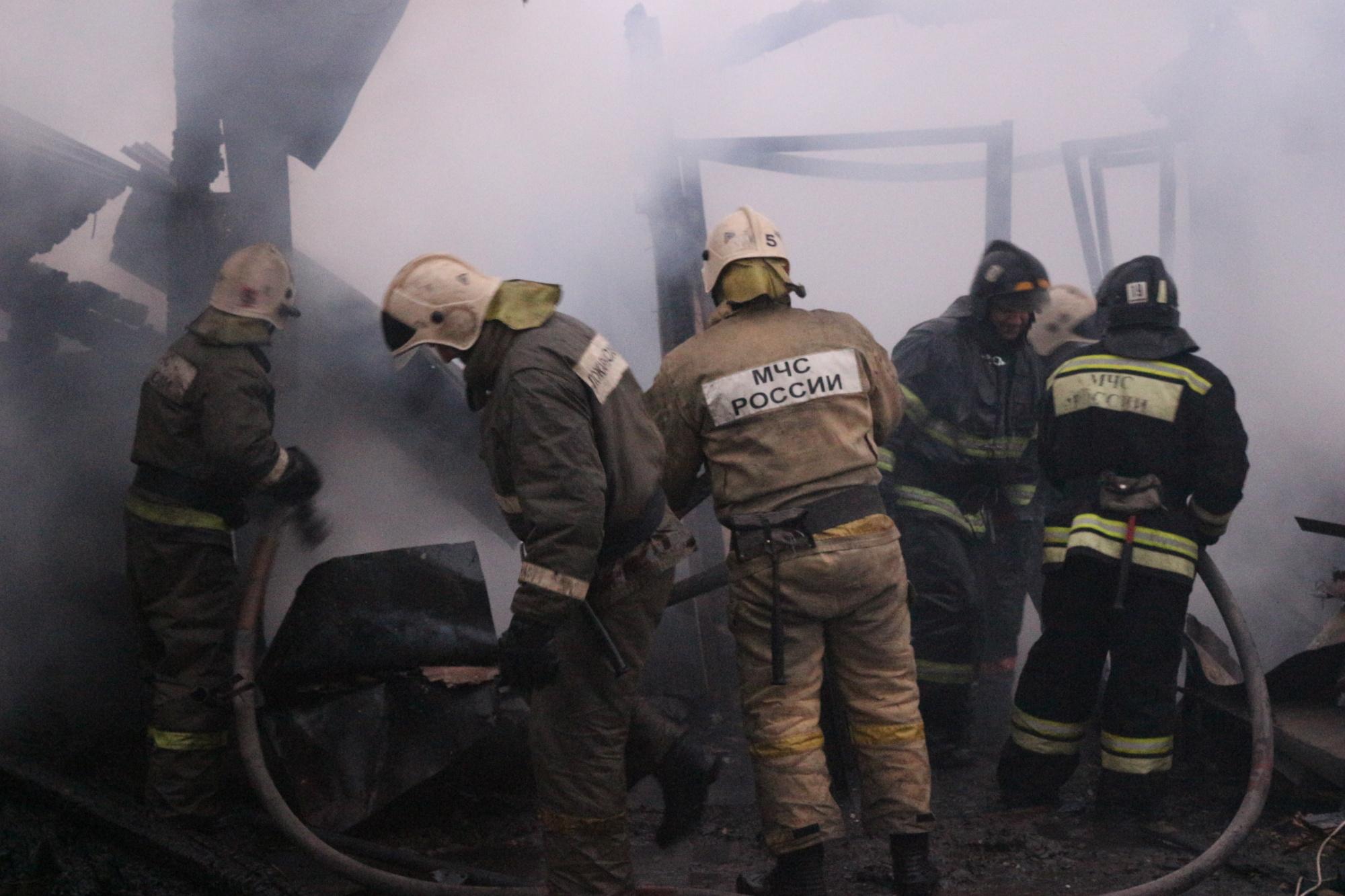 Пожар в нежилом здании в городском округе Можайск