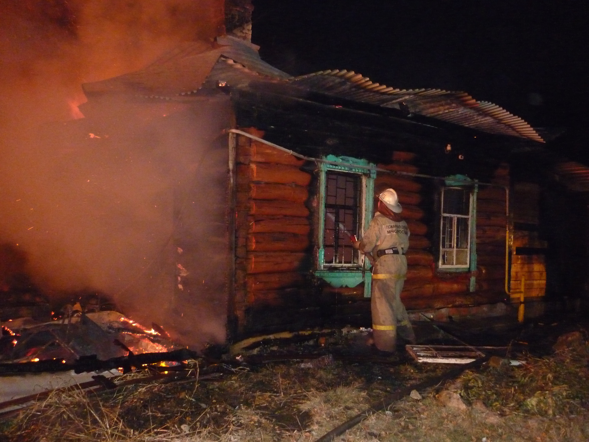 Пожар в садовом доме в городском округе Сергиев-Посад