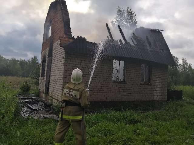 Пожар в хозяйственной постройке в городском округе Серпухов
